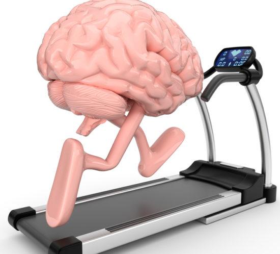 Gehirn läuft auf dem Laufband
